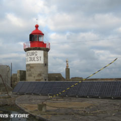 Installation solaire pour vidéo surveillance et télécom au phare de l'Ouest à Cherbourg
