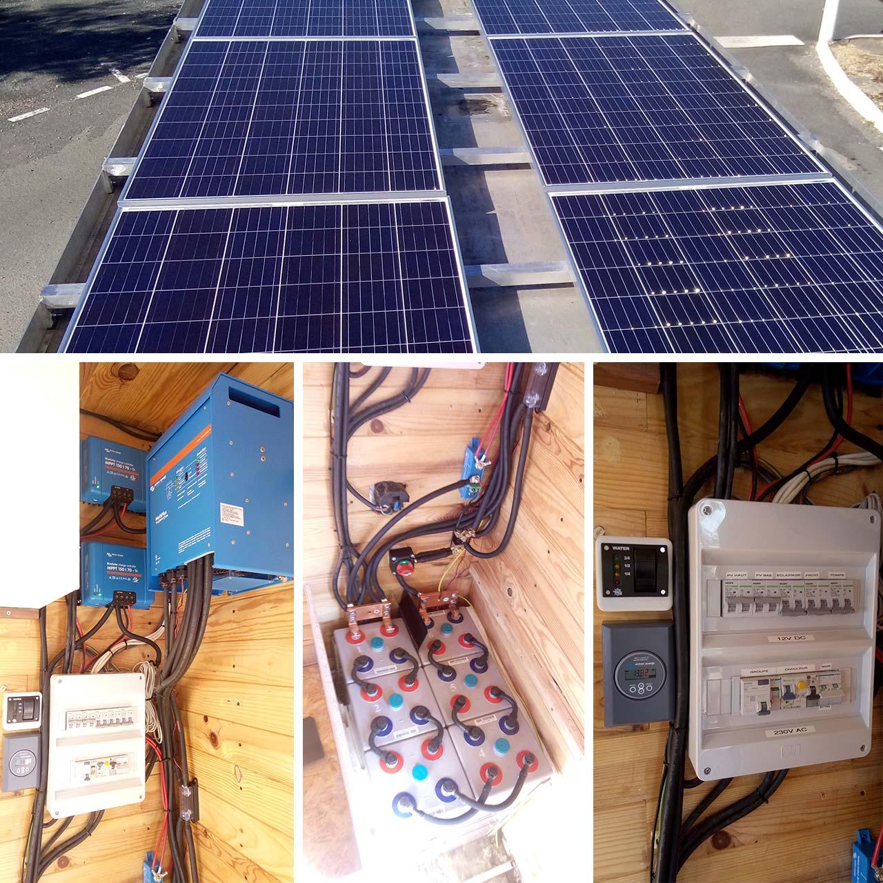 Installation solaire pour l'autonomie électrique d'un camion aménagé en Afrique