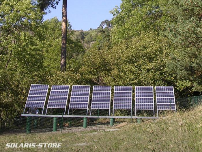 Installation solaire hybride avec groupe électrogène pour un gîte associatif