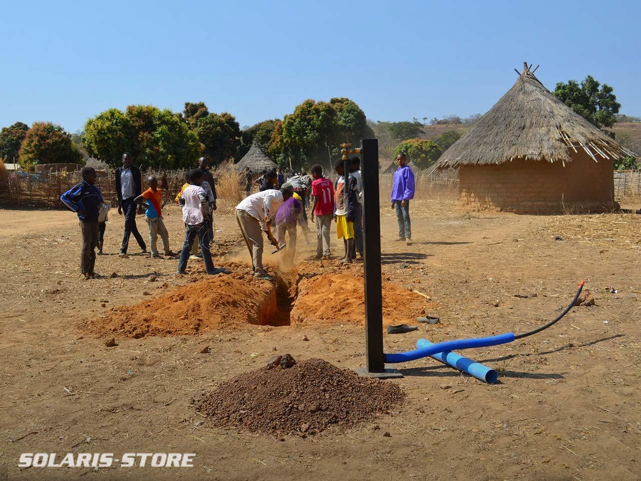 Installation d'une station de pompage d'eau potable à énegie solaire dans le village de Sitaoule, commune de Gadougou au Mali