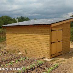Irrigation solaire d'un champs grâce au pompage d'eau dans un puit