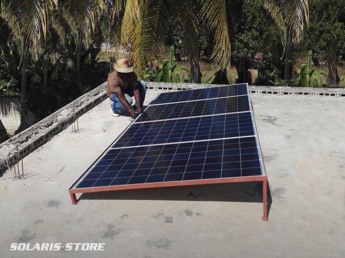 Kit solaire anti délestage pour assurer l'alimentation électrique d'un café bar