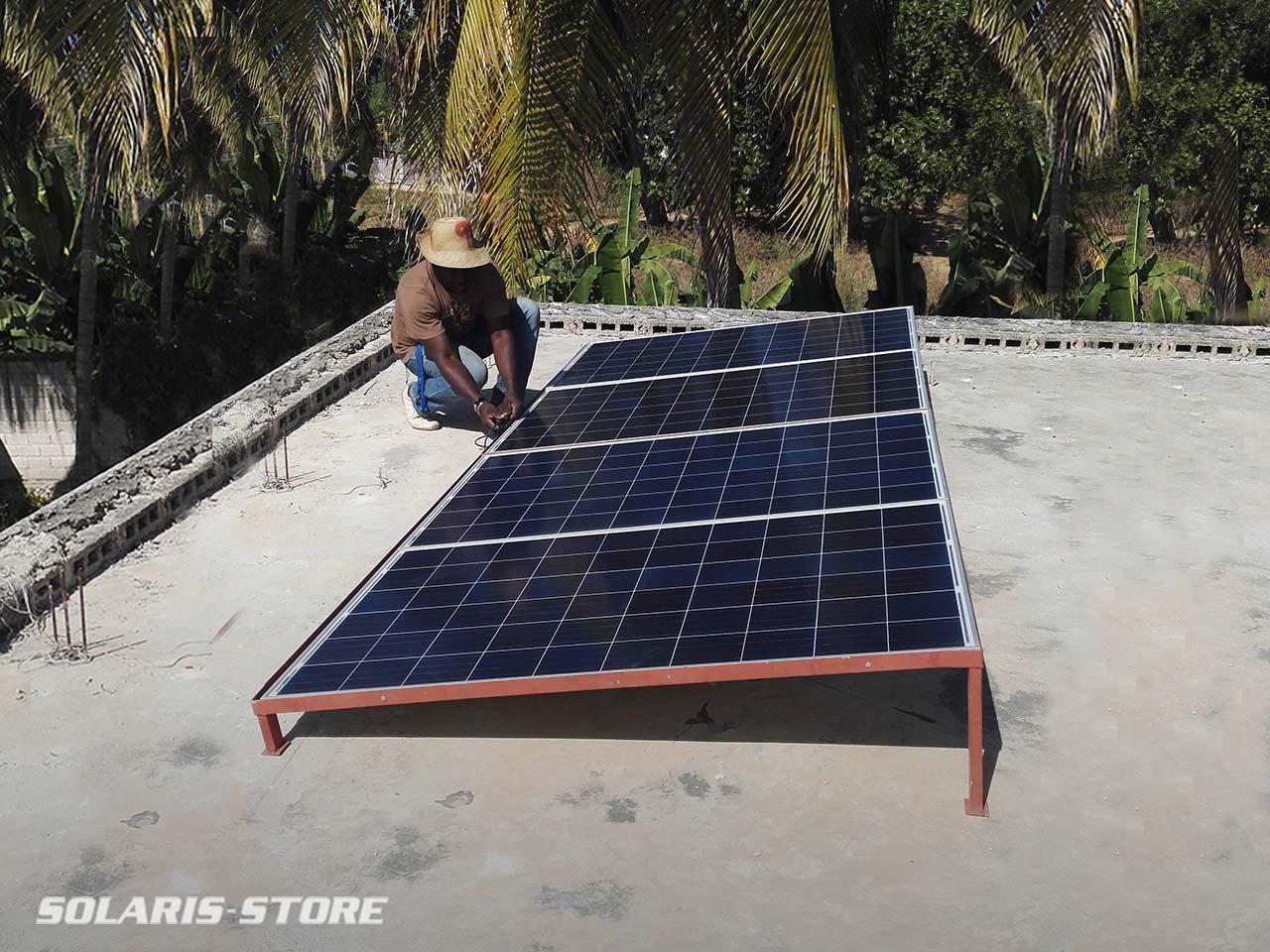 Kit solaire anti délestage pour palier au coupure de courant en Haiti