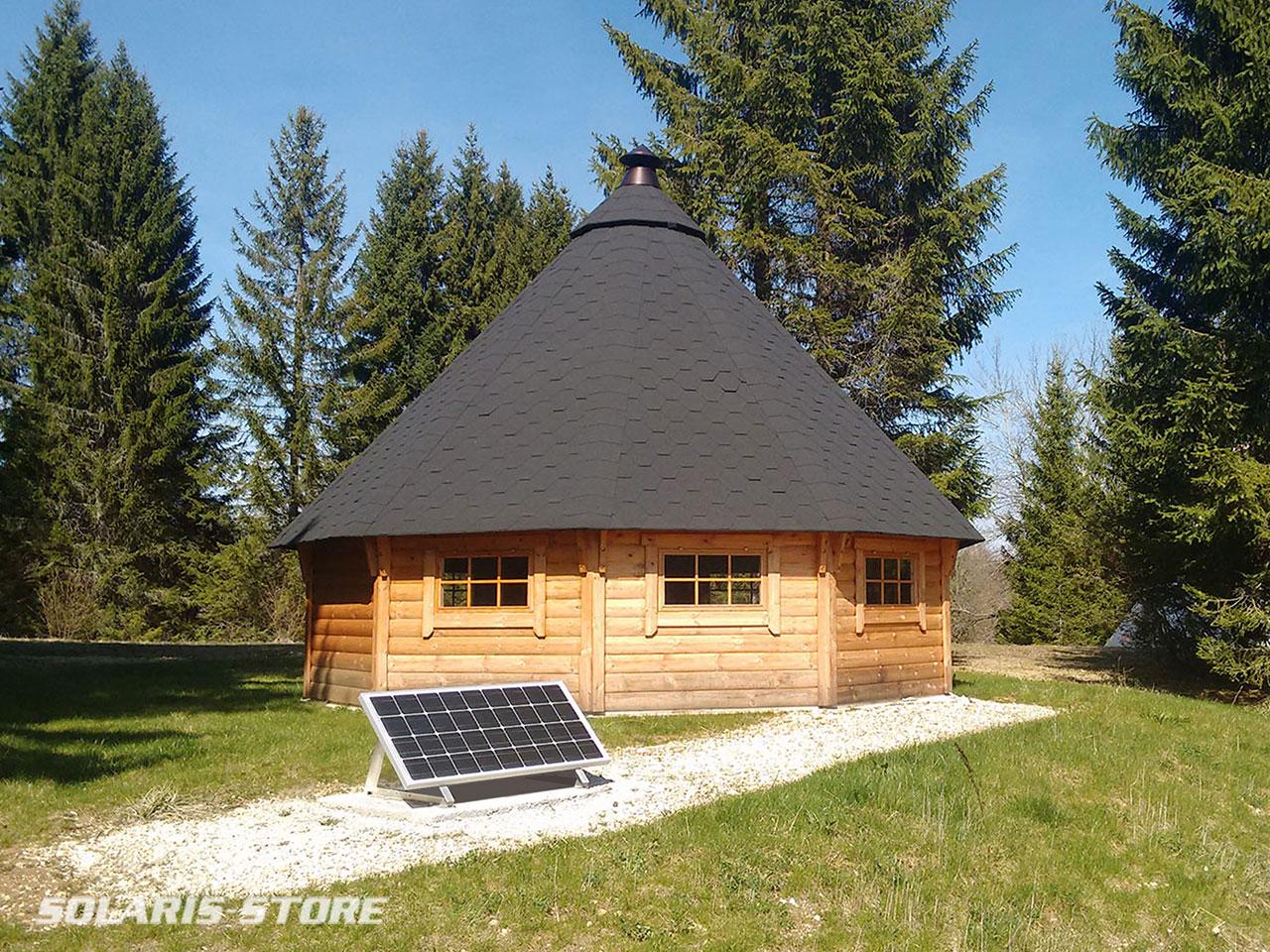 Kit solaire cabane bois