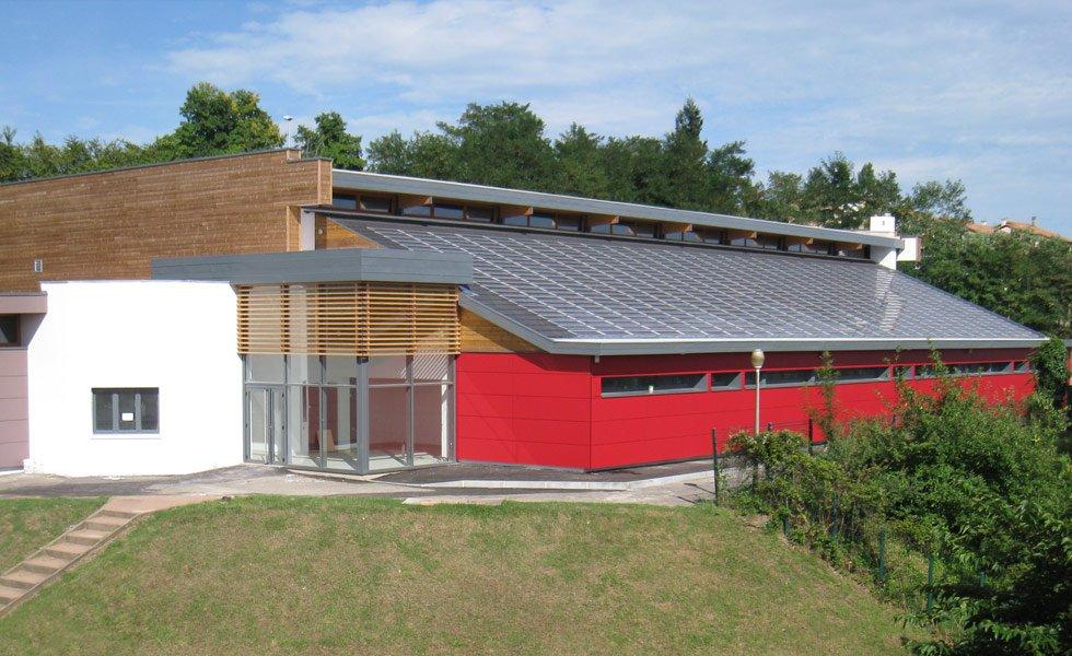 Centrale solaire photovoltaïque du Gymnase de Trévoux (01, Ain)