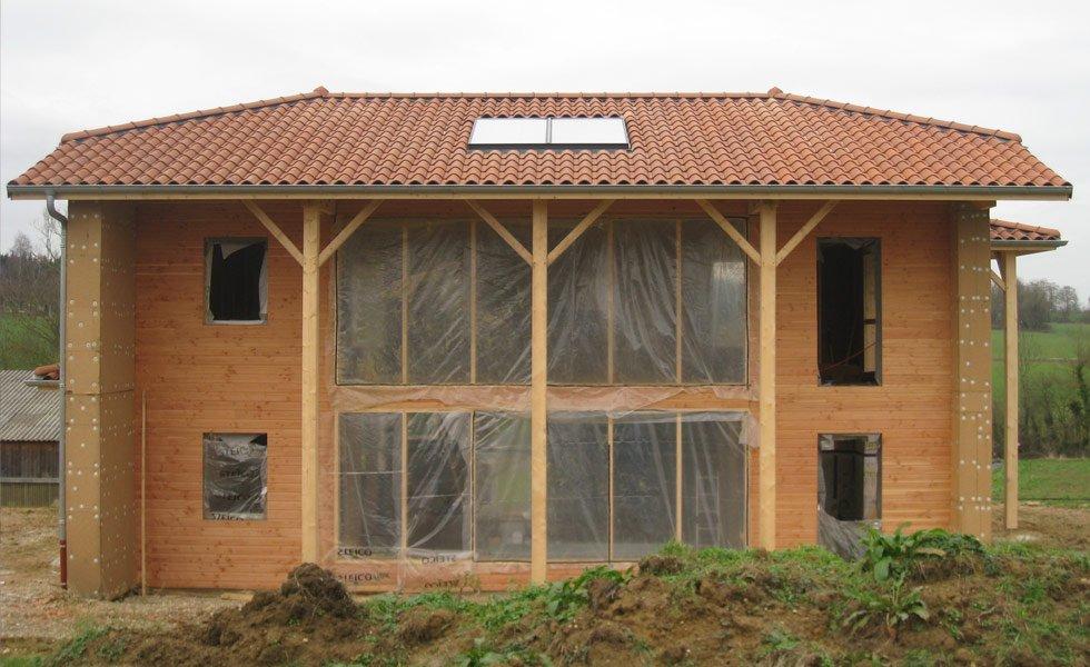Intégration d'un chauffe-eau solaire en toiture à Saint Denis les Bourg (01, Ain)