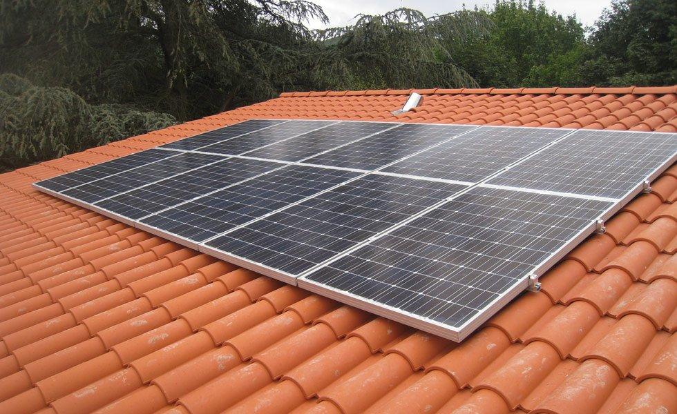Installation solaire à Saint Romain au mont d'Or (69, Rhône)
