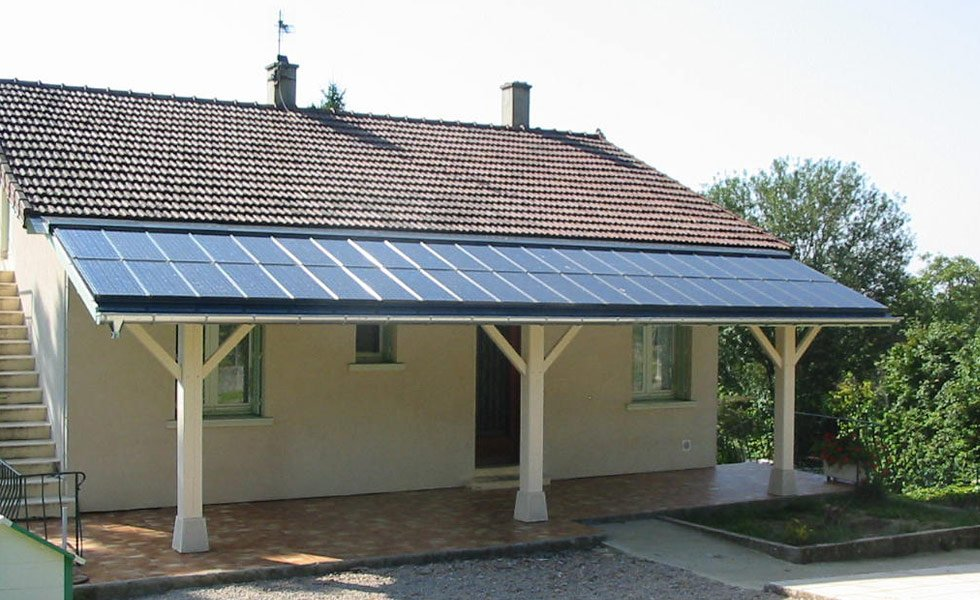 Installation de modules solaires CLIPSOL pour verrière.