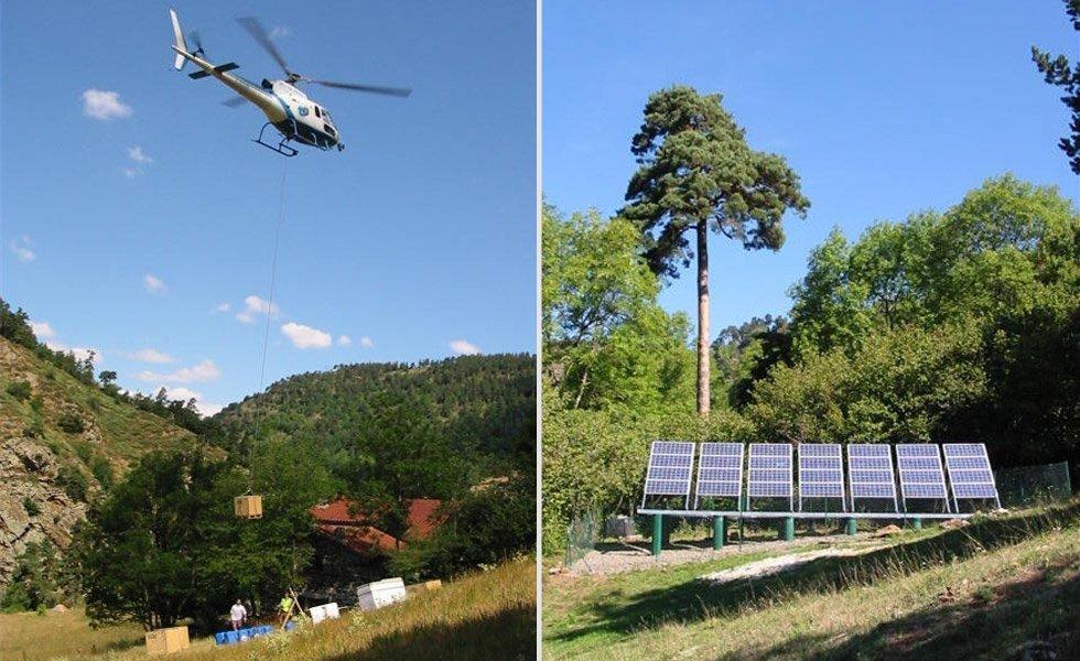 <p>Installation solaire avec parc batterie pour alimenter en électricité de façon autonome le refuge du Mas de Bonnefont.</p>