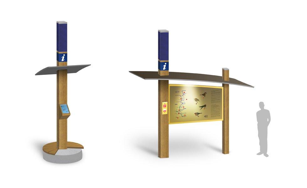 Totem solaire autonome dédié à l'électrification de sentiers didactiques en milieux naturels