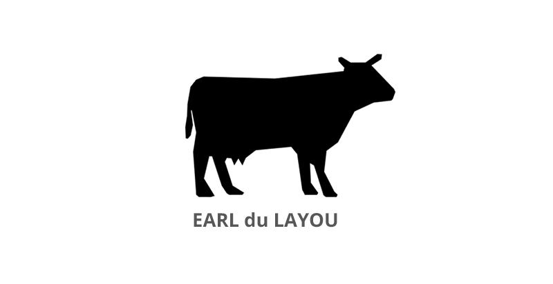 Logo explitation agricole éleveur EARL du LAYOU