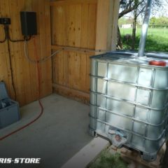 Pompe solaire pour cuve d'arrosage de jardin