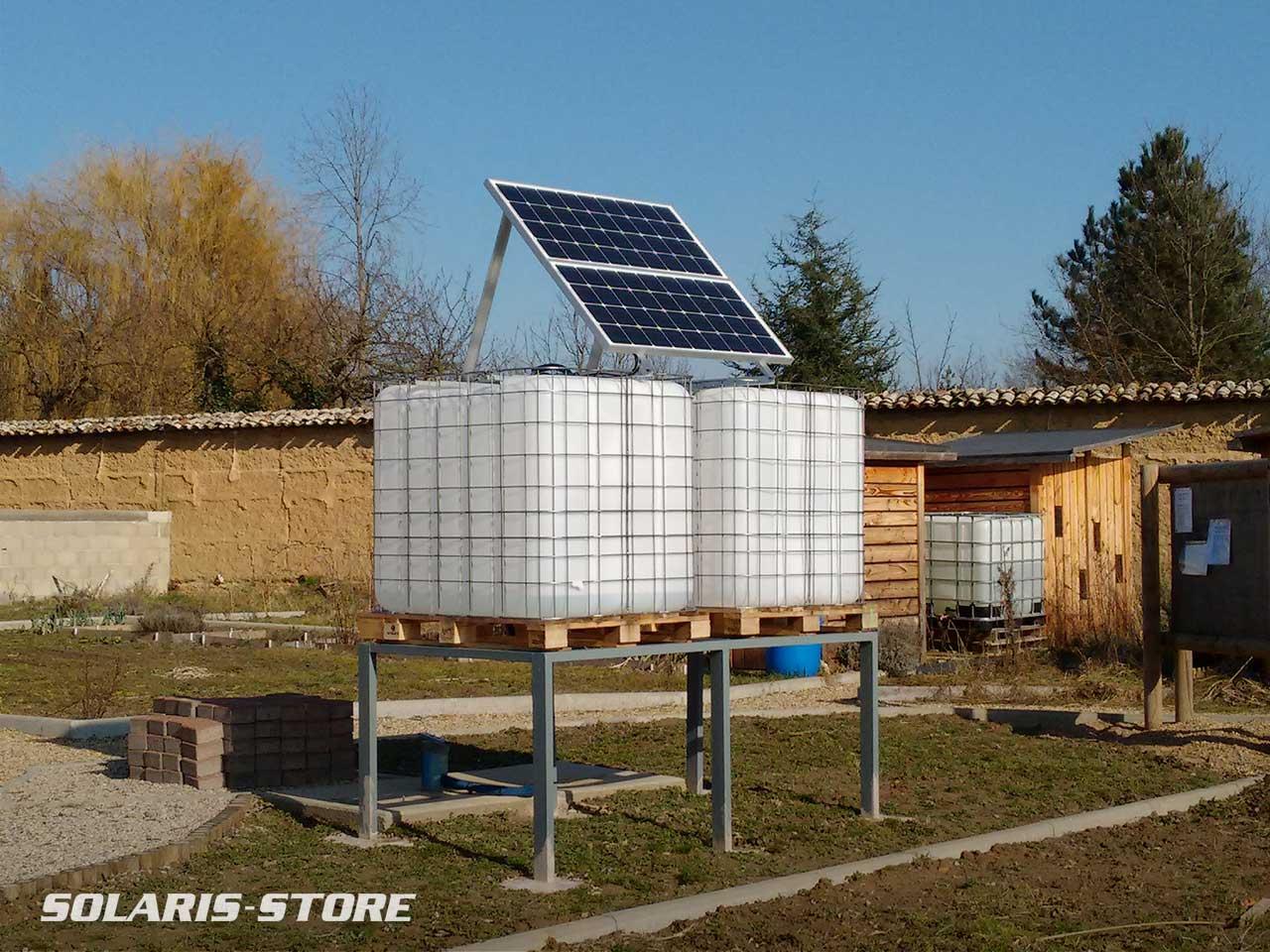 Pompe solaire immergée pour l'arrosage d'un potager collectif et jardin partagé