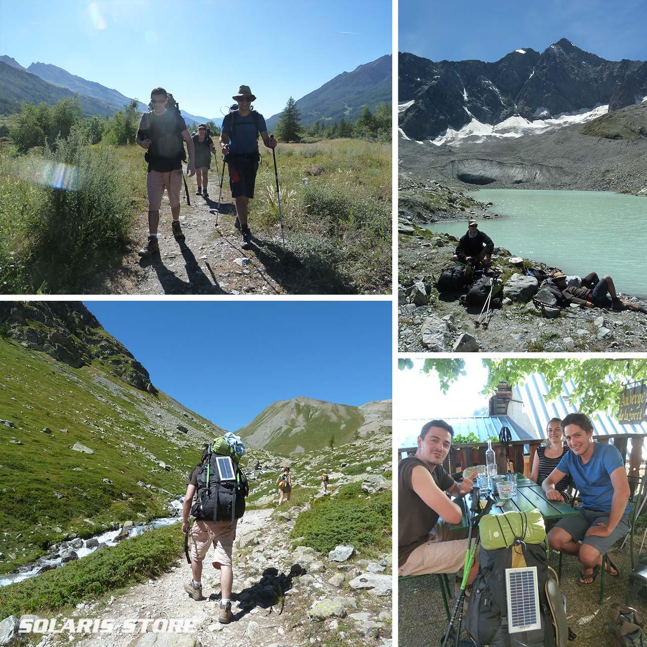 Randonnée Bivouac et Camping sur le GR54 tour de l'oisans et des écrins, entre auris, besse et la Grave
