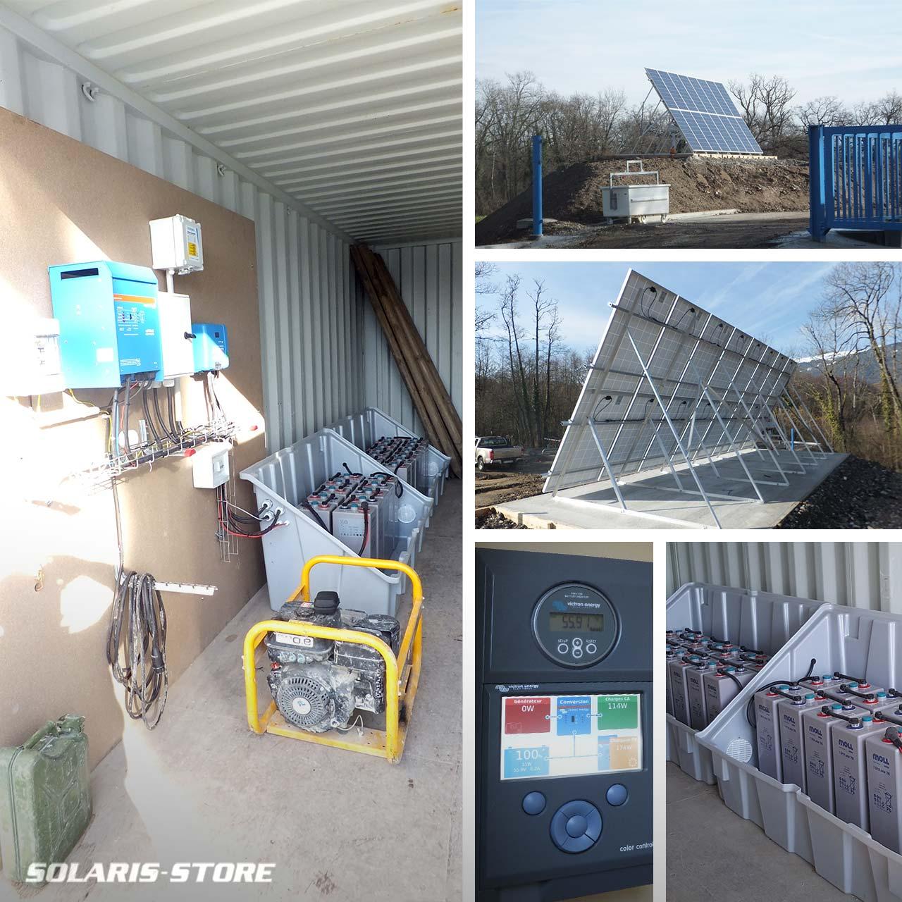 Alimentation d'un centre de recyclage en énergie solaire couplé à un groupe électrogène à la frontière Suisse