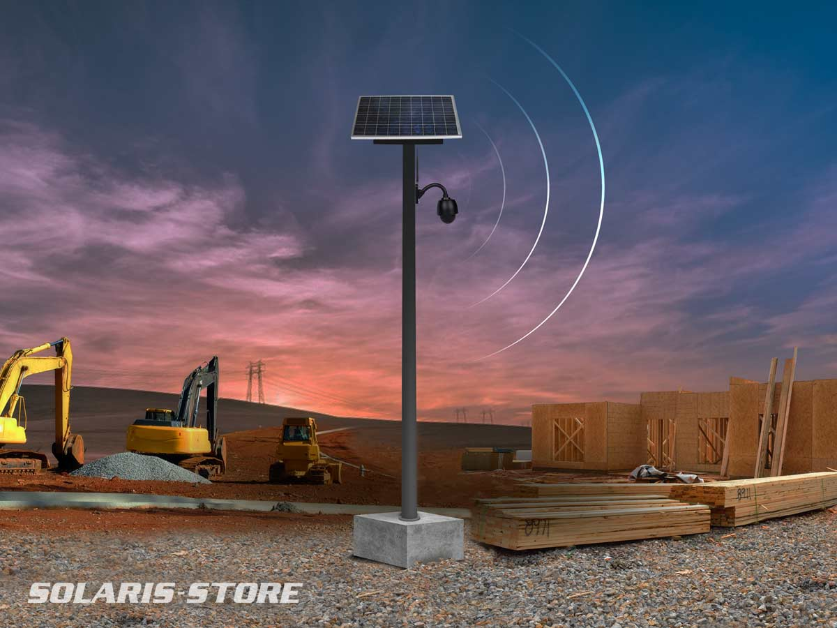 caméra de surveillance de chantier solaire