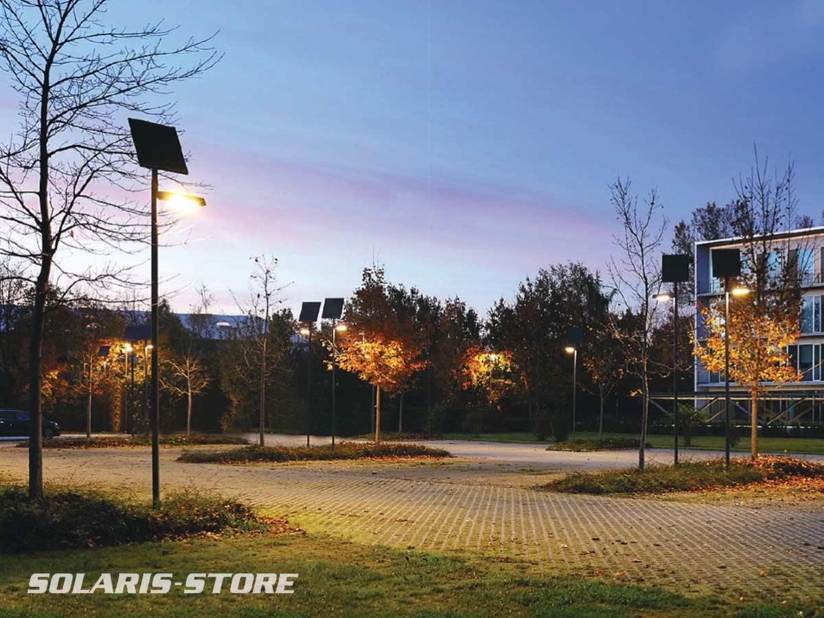 Candélabre autonome à panneau solaire photovoltaïque