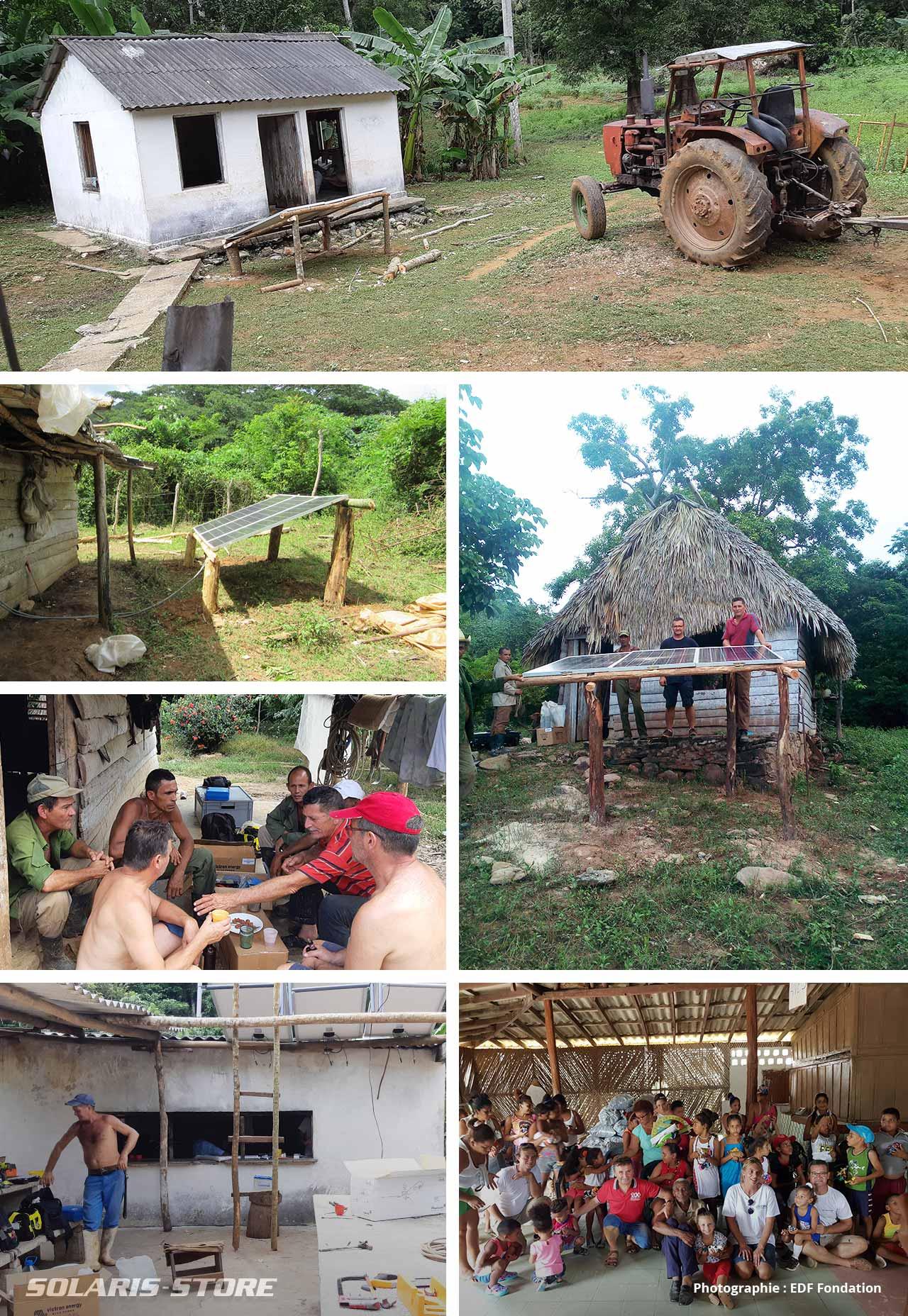 Carnet de voyage, installation de kit solaire pour maison agricole à Cuba