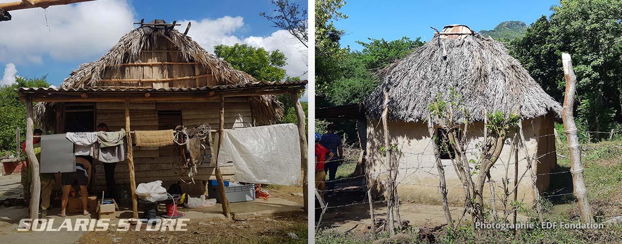 Les maisons de cultivateur à équiper sont en parpaing, en bois ou en torchis