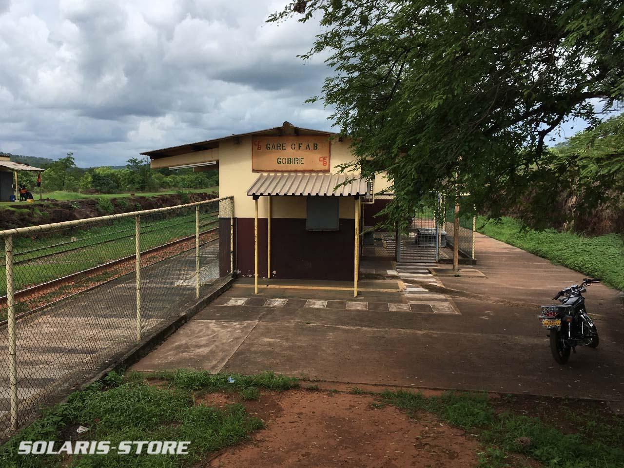 Gare alimenté en énergie solaire en Guinée