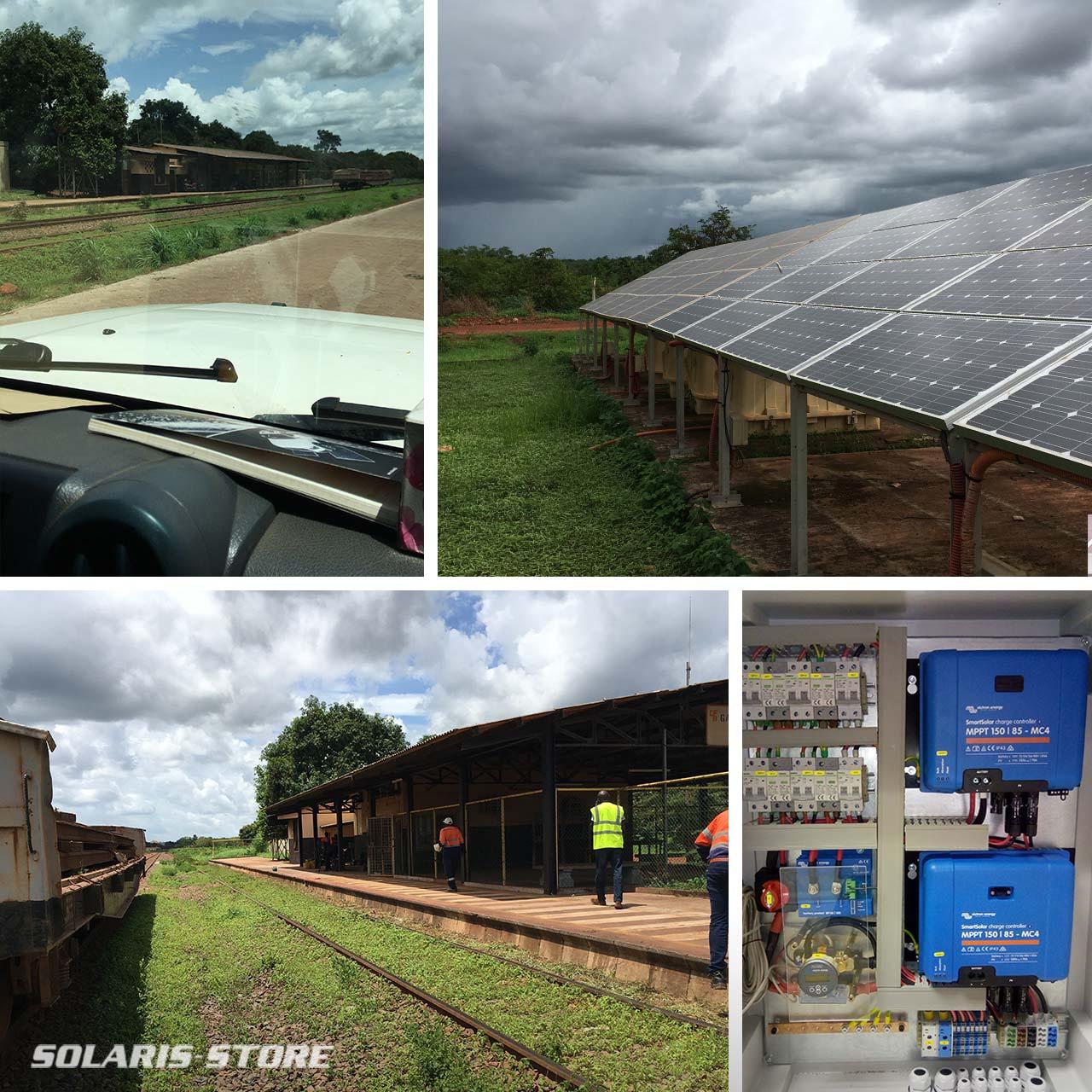 Générateur solaire Off Grid pour alimenter une ligne de train de marchandise en Afrique