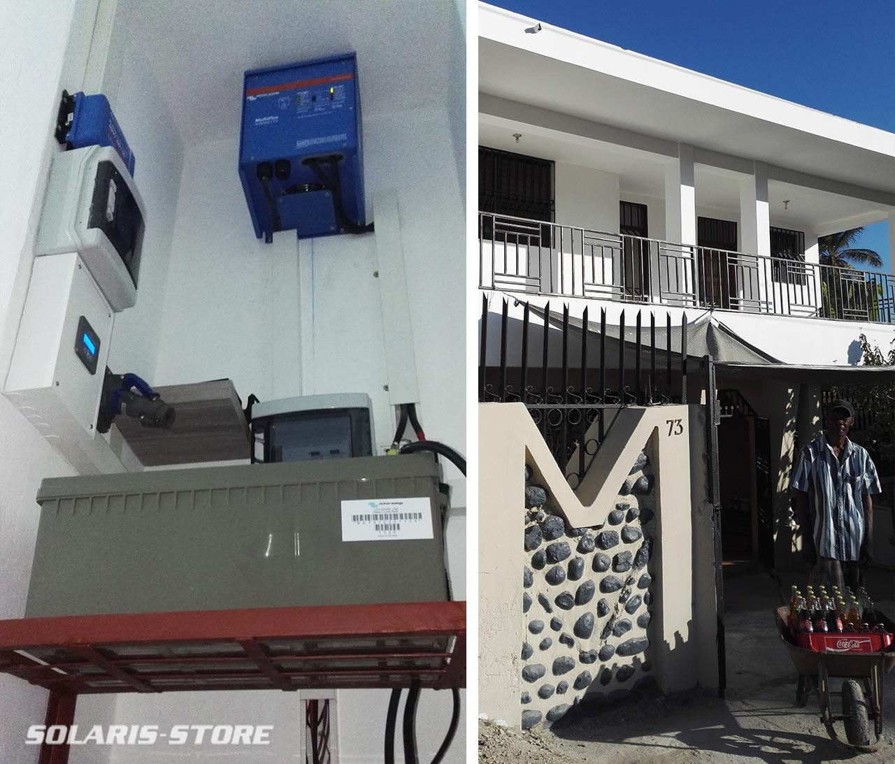 Installation d'un générateur de secours solaire pour lutter contre les coupures de courant en Haitï