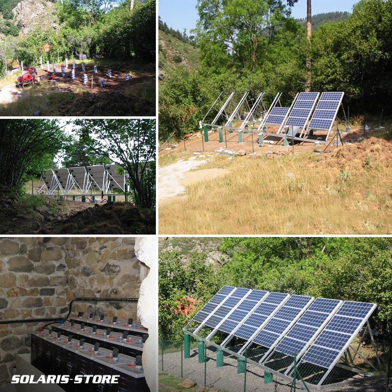 Installation d'une centrale hybride : énergie solaire photovoltaïque et groupe électrogène en appoint