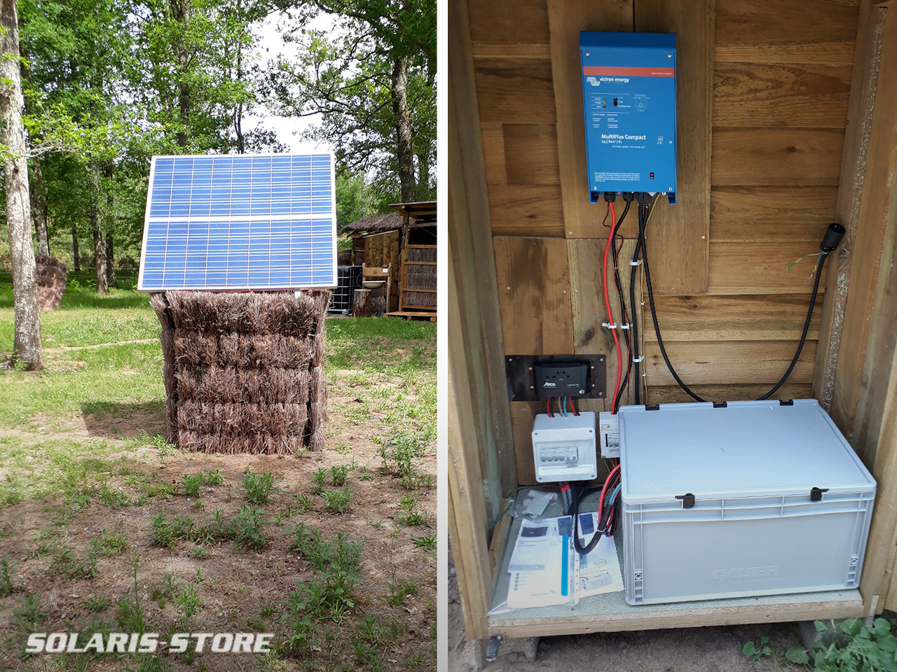 Installation solaire dans un ecolodge en pleine nature