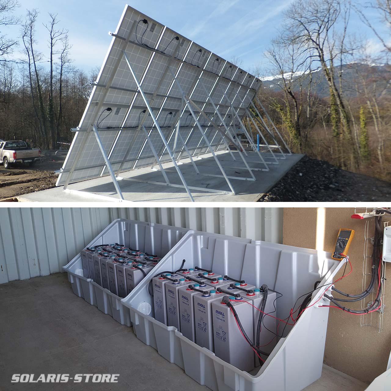 Installation de kit solaire à la frontière suisse, haute Savoie