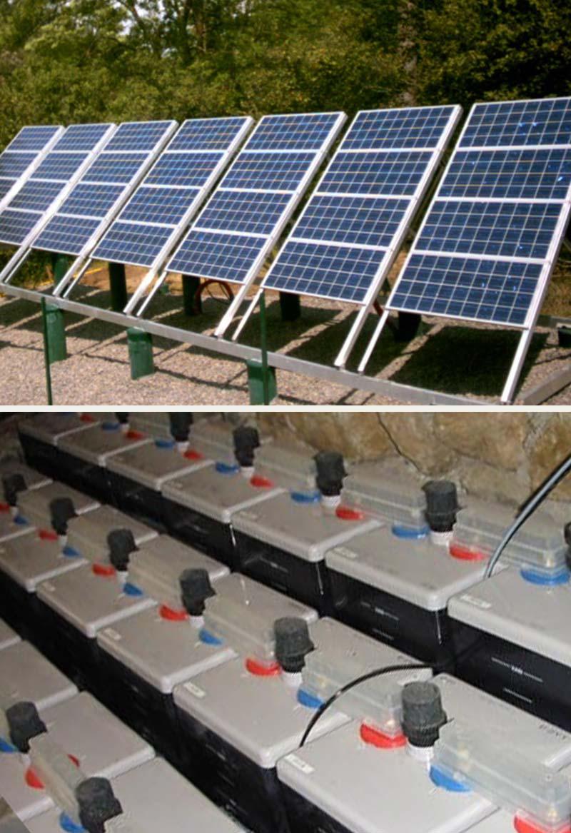 Installation solaire de forte capacité pour un gîte refuge en site isolé du réseau pour promouvoir l'éco-tourisme