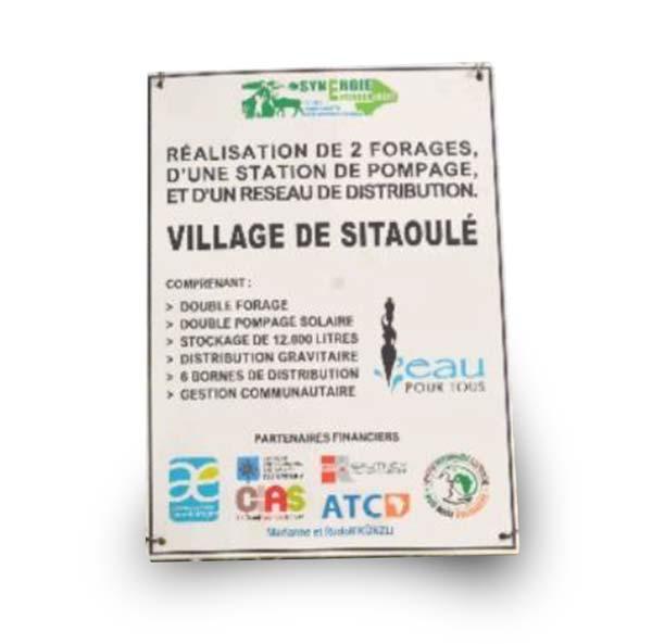 Affiche station eau mali sitaoule