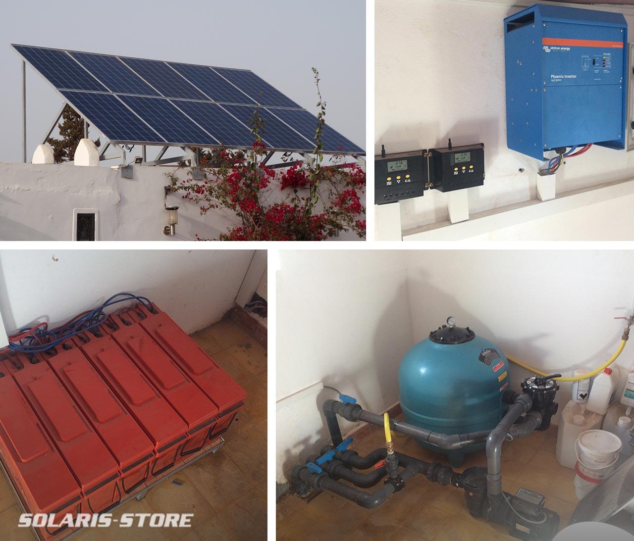 Installation d'un système de filtration de piscine avec panneau solaire PV