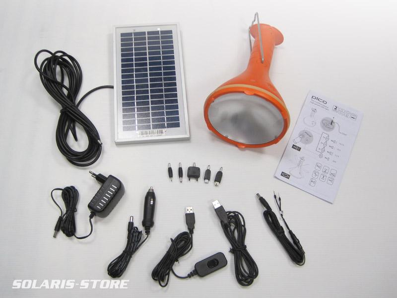 Kit chargeur et lampe solaire USB et lampe pour smartphone