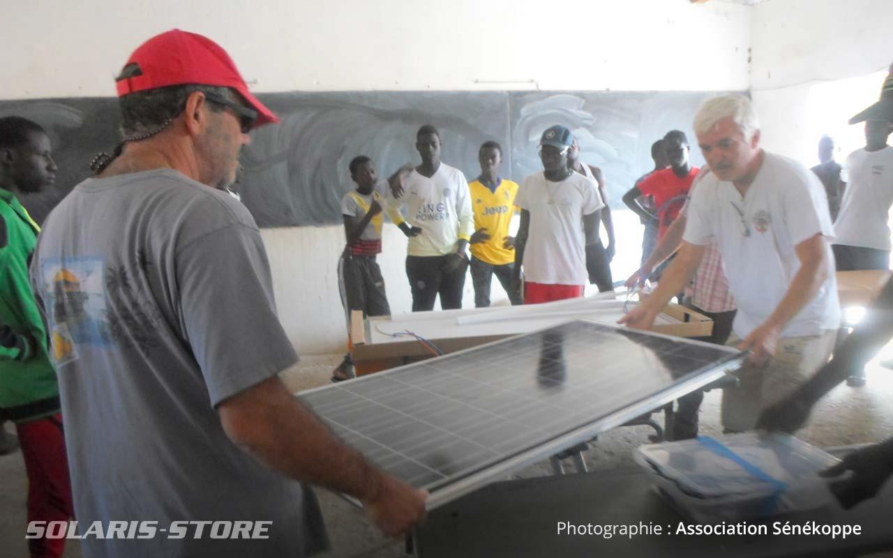 Installation à blanc du kit panneau solaire