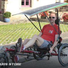 Panneau solaire pour vélo électrique couché