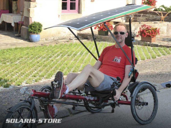 Panneau solaire et booster pour vélo électrique tricycle
